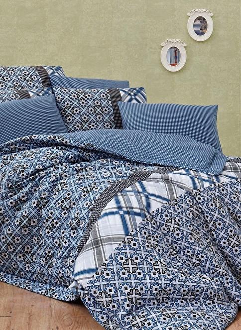 Kupon Home Çift Kişilik Complete Set Mavi